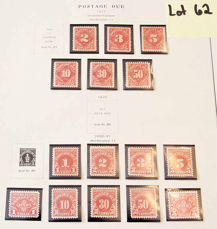 77 Postage Due Stamps. $2,415