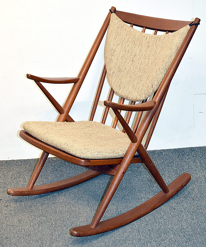 3. Bramin Danish Teak Rocking Chair | $215.25