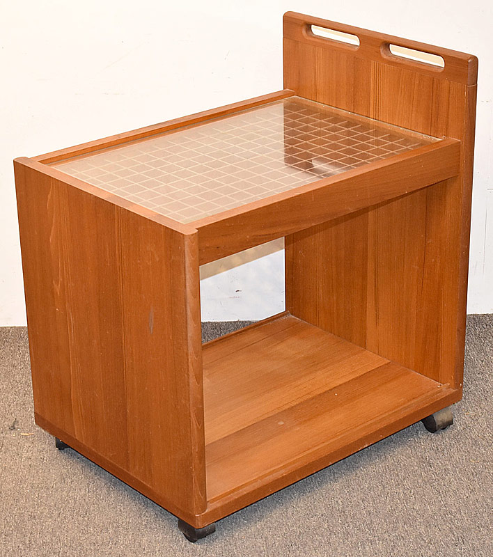 4. Komfort Danish Teak Bar Cart | $118
