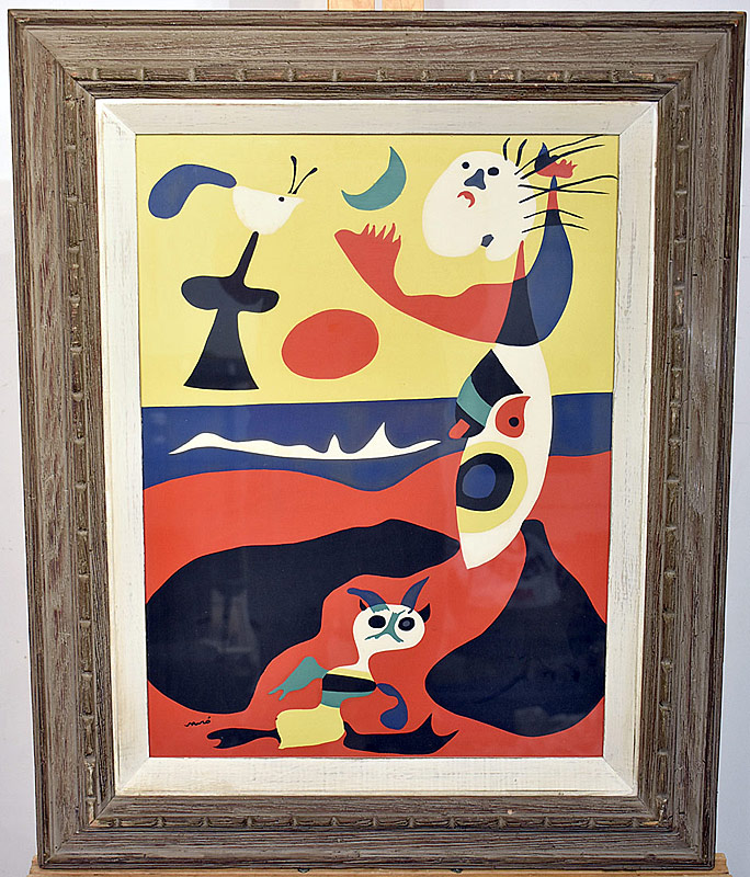 "16. Joan Miro. Color Lithograph, ""L\'ete\"" from Verve No.3 