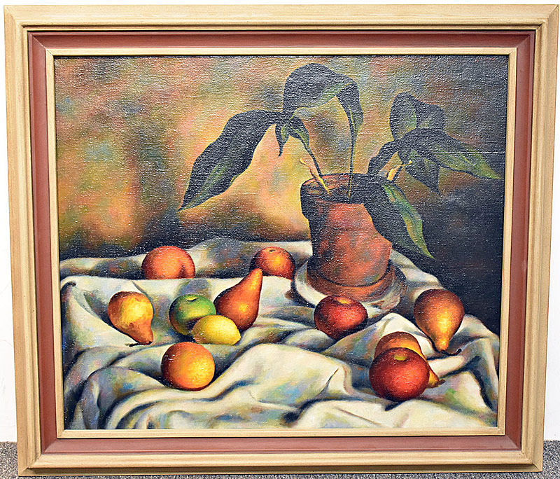 21. Glenn Stuart Pearce. Oil/Canvas, Still Life, Pears | $59