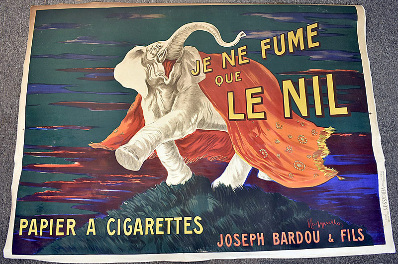 23. French Advertising Poster for Le Nil Cigarettes | $246
