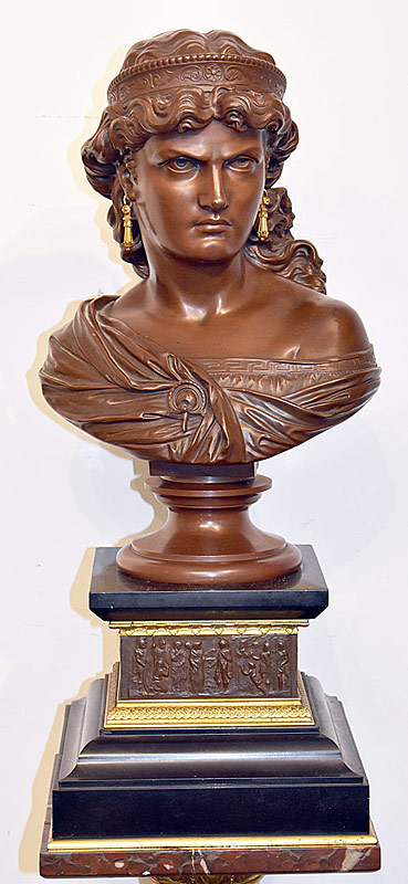 25. Alfred Pierre Richard. Bronze Bust, Maiden | $885