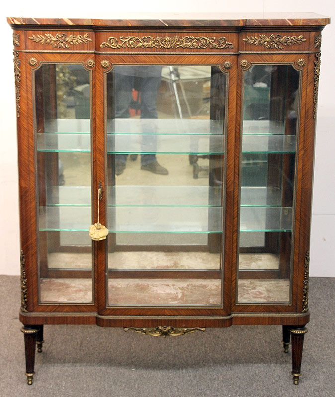 27. French Louis XVI-Style Marble-Top Vitrine | $1,770