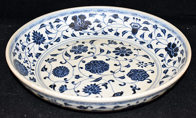 46. Chinese Porcelain Blue and White Charger | $2,460