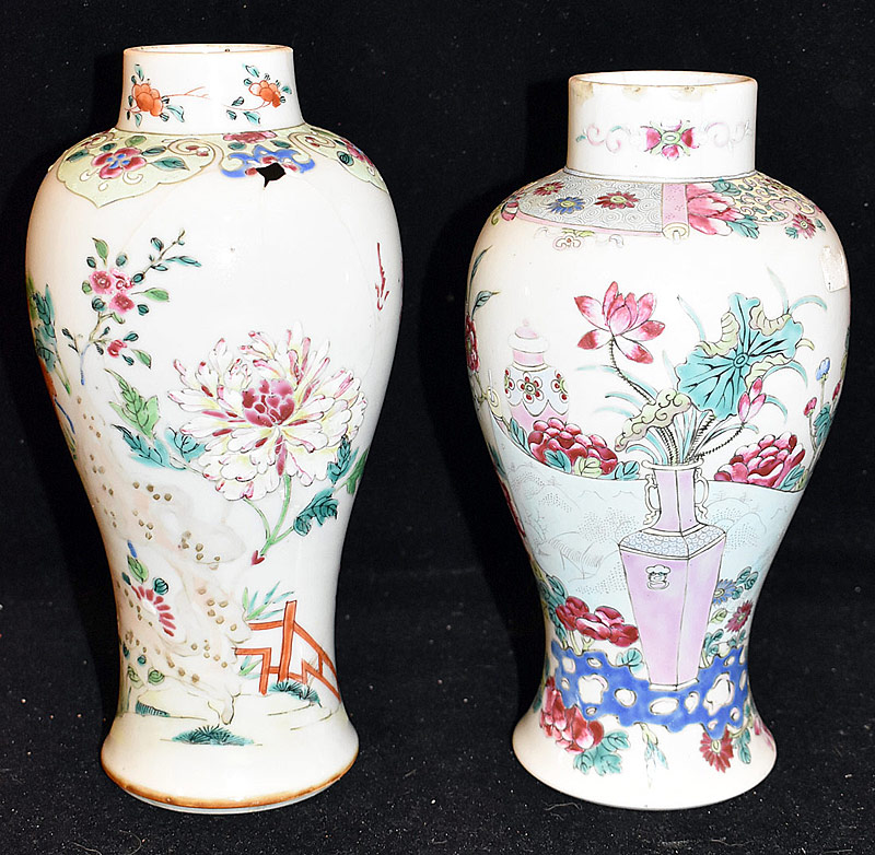 48. Two Chinese Porcelain Baluster-form Vases | $59