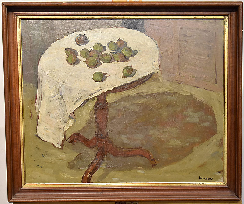 55. Edith T. Roberson. Oil/Panel, Still Life w/Fruit | $265.50