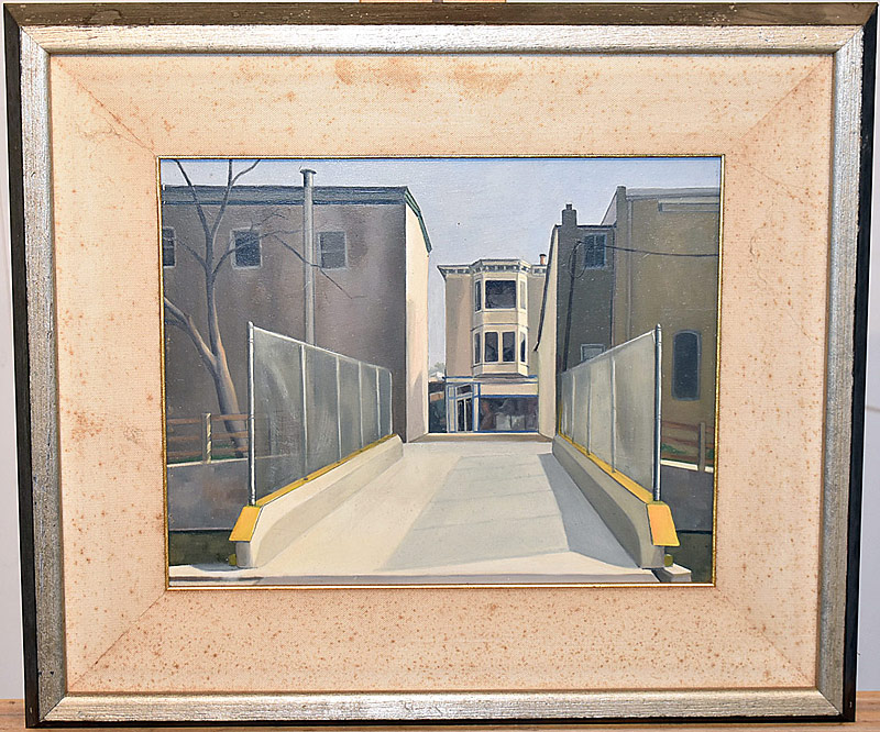 58. Babette Martino. Oil/Panel, Giovanne\'s Bridge | $799.50