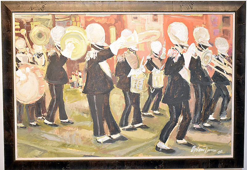 59. Andrew Turner. Oil/Panel, Marching Band | $522.75