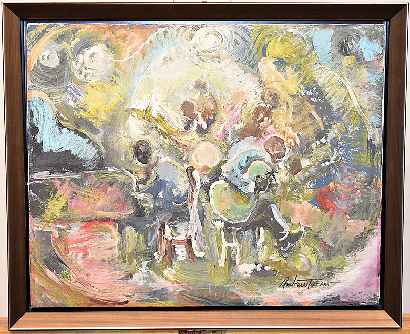 60. Andrew Turner. Oil/Canvas, Jazz Musicians | $295