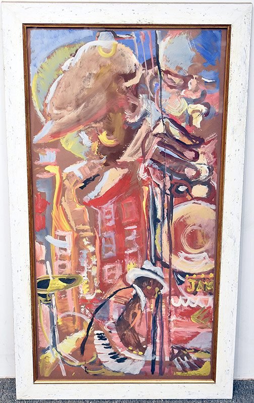 61. Andrew Turner. Oil/Board, Jazz Musicians | $472
