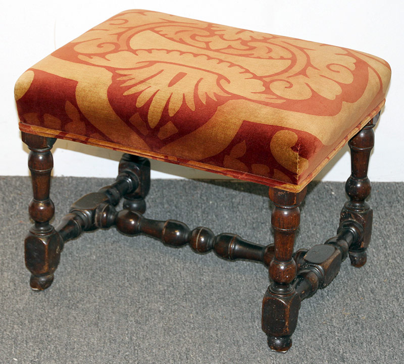 86. Jacobean Turned Walnut Joint Stool | $354