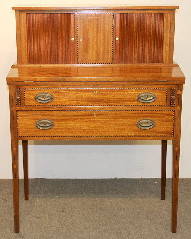 87. Federal-style Mahogany Tambour Desk | $354