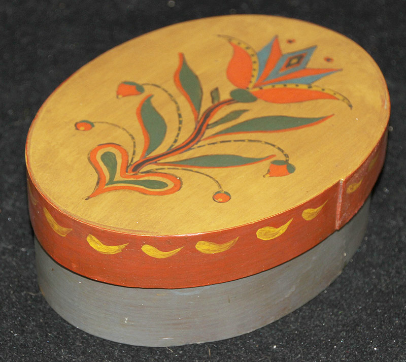 100. David Ellinger Painted Sewing Box | $35.40