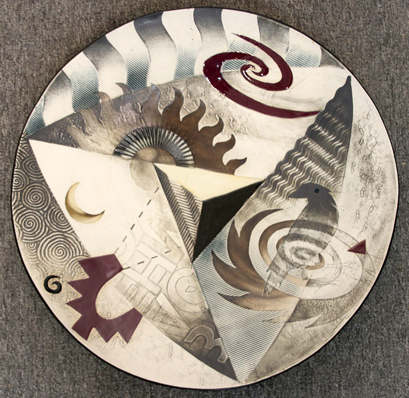 114. Phillip Harris. Glazed Art Pottery Charger | $206.50