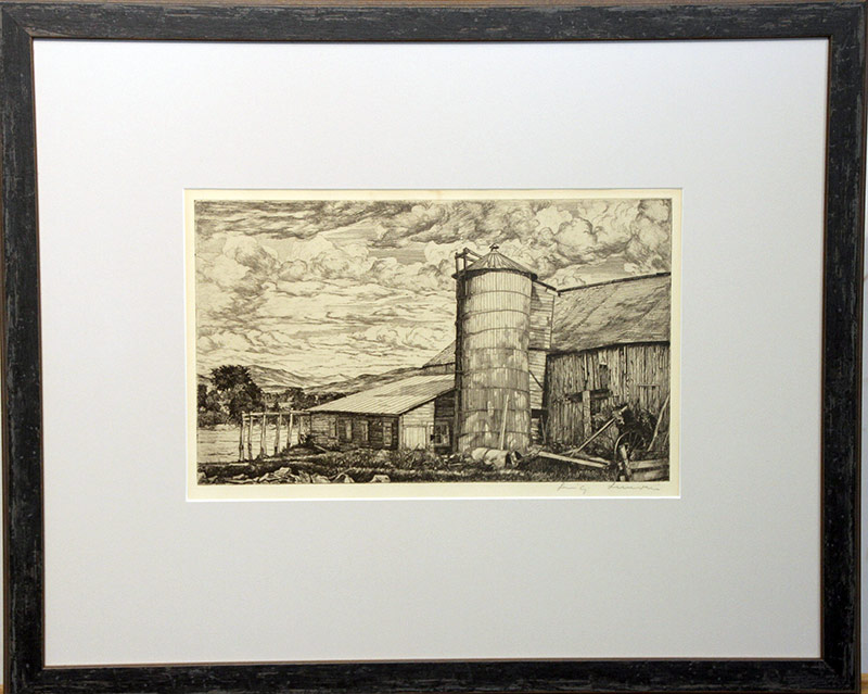 117. Luigi Lucioni. Etching, Moving Shadows | $184.50