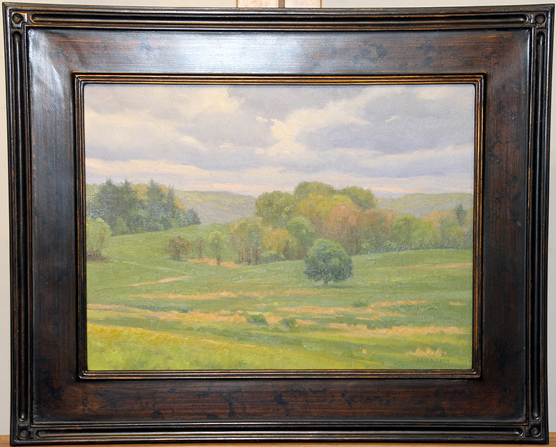 118. Richard Abrahama. Oil/Panel, Valley Forge | $177