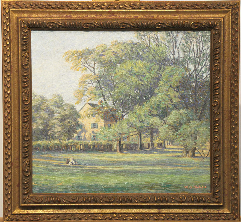 120. W.S. Nichols. Oil/Canvas, Landscape with Figures | $354