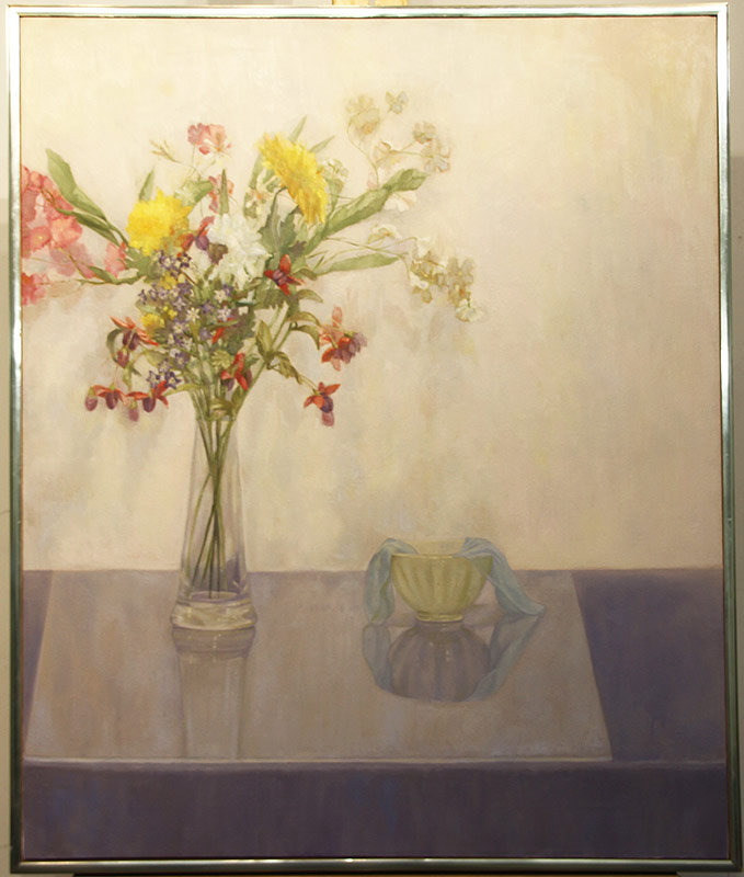 121. Iona Fromboluti. Oil/Canvas, Still Life with Bouquet | $265.50