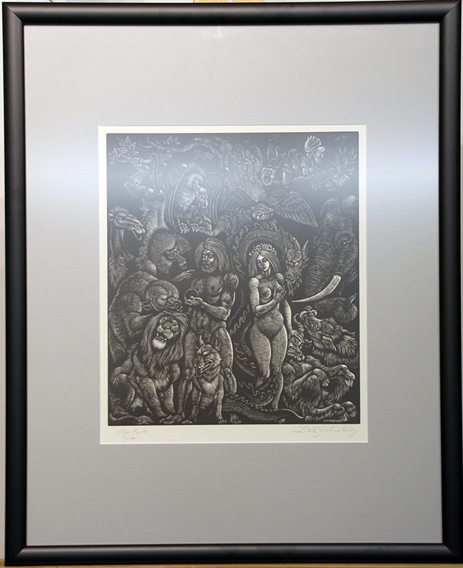 122. Fritz Eichenberg. Engraving, The Bite | $123