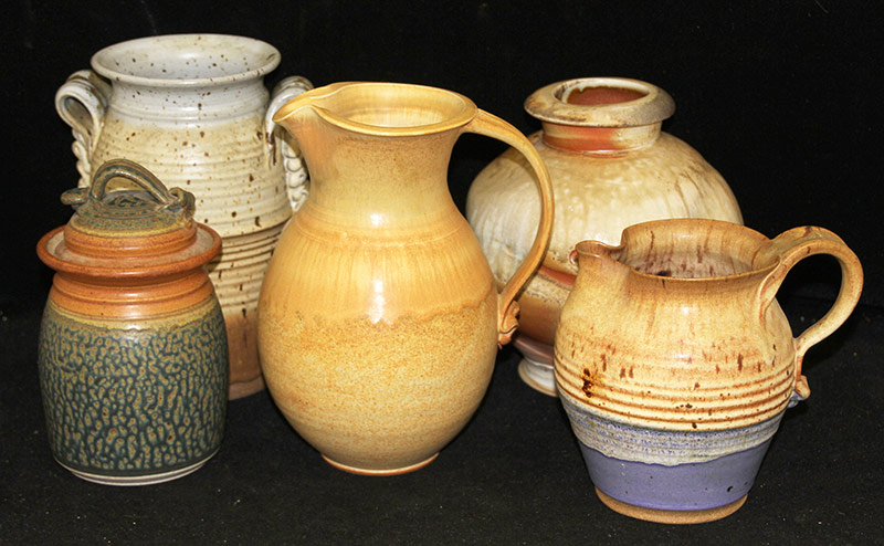 131. Five Piece Studio Pottery Grouping | $354