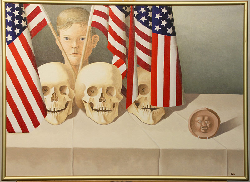142. Eileen Kennedy-Dyne. Oil/Canvas, Live Free or Die | $206.50