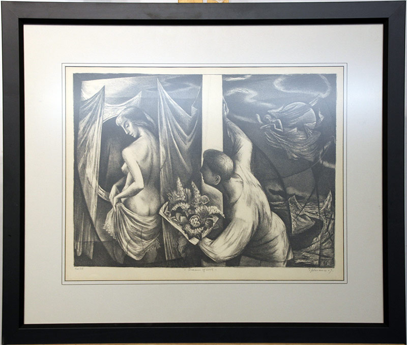 144. Benton M. Spruance. Lithograph, Dream of Love | $307.50