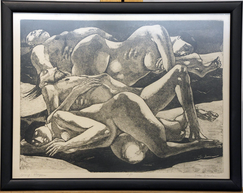 145. John Fenton. Etching, Group: Sleepers | $49.20