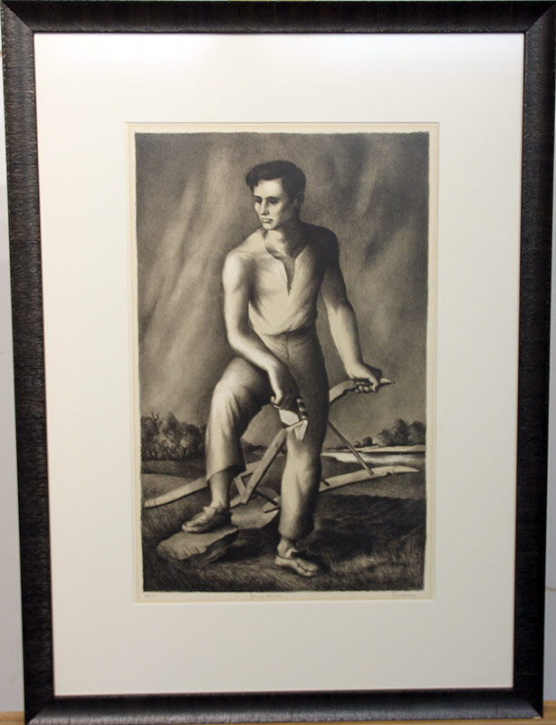 147. Benton M. Spruance. Lithograph, Young Lincoln | $615