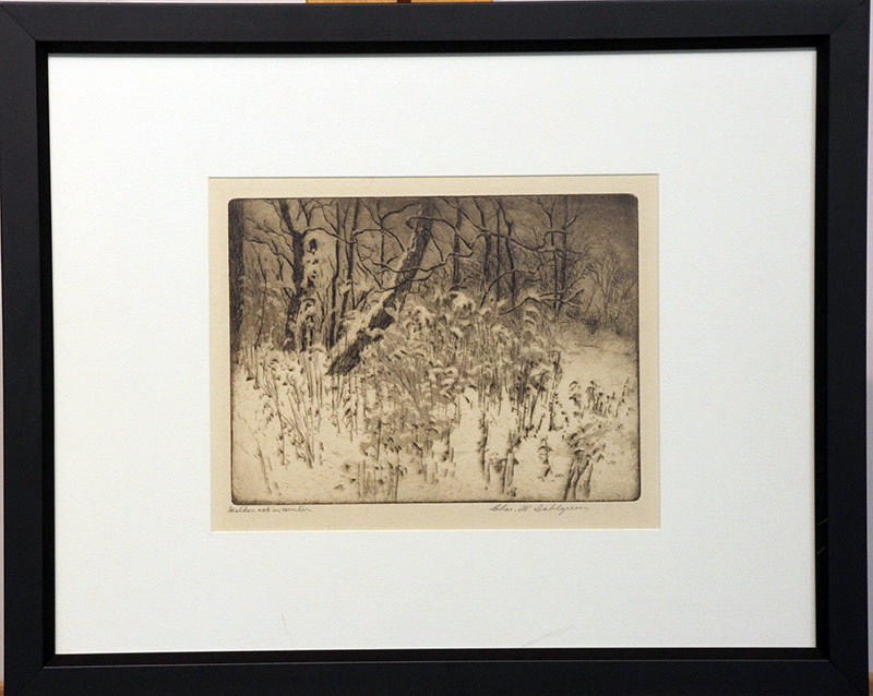 150. Charles Dahlgreen. Etching, Goldenrod in Winter | $70.80