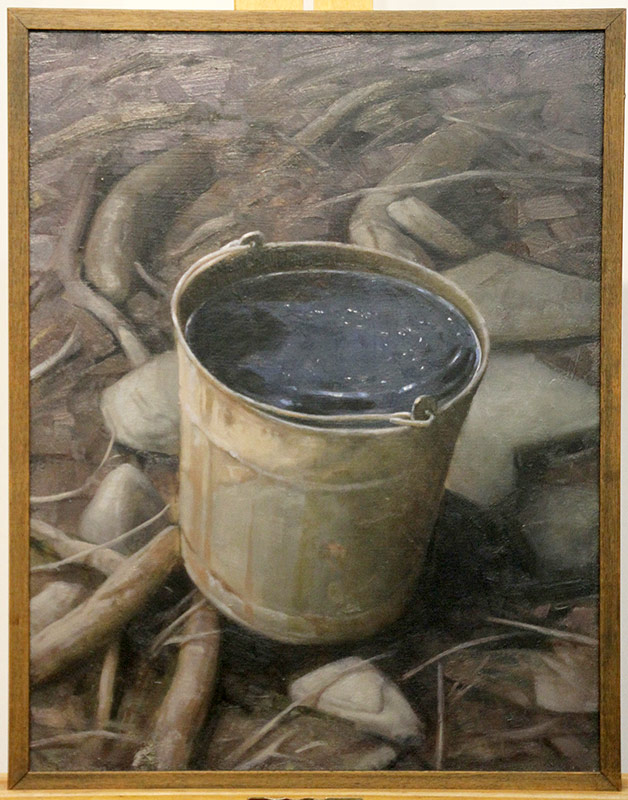 153. Martin Poole. Oil/Board, Bucket Full of Stars | $153.75