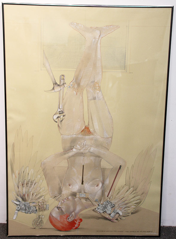 155. Robert Allen Nelson. Mixed Media, The Sister of Icarus Falls From a Window | $430.50