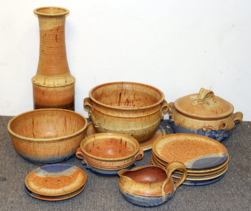"159. 14 Studio Pottery Articles Signed ""Reece\"" 