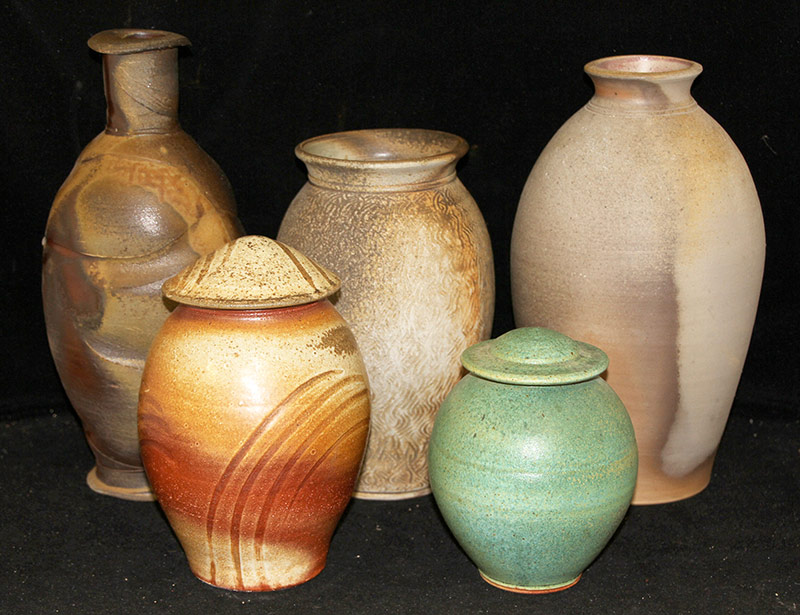 160. Five-piece Studio Pottery Grouping | $70.80