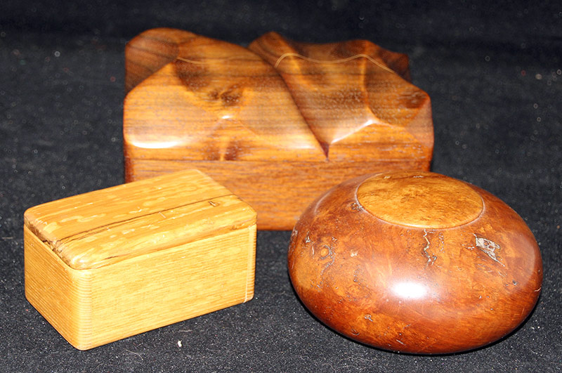 163. Three Wood Dresser Boxes | $236