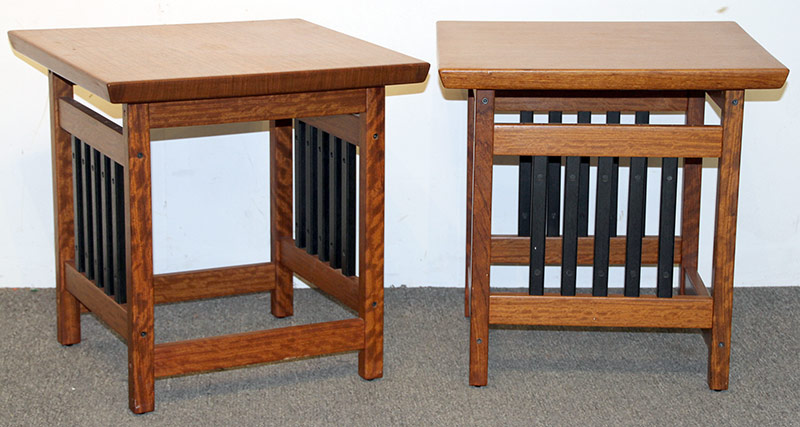 168. Pr. Anthony Beverly/Woodenworks End Tables | $354