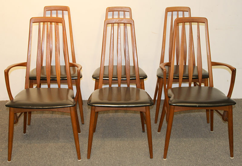 172. Six Niels Koefoed Danish Teak Eva Dining Chairs | $1,599