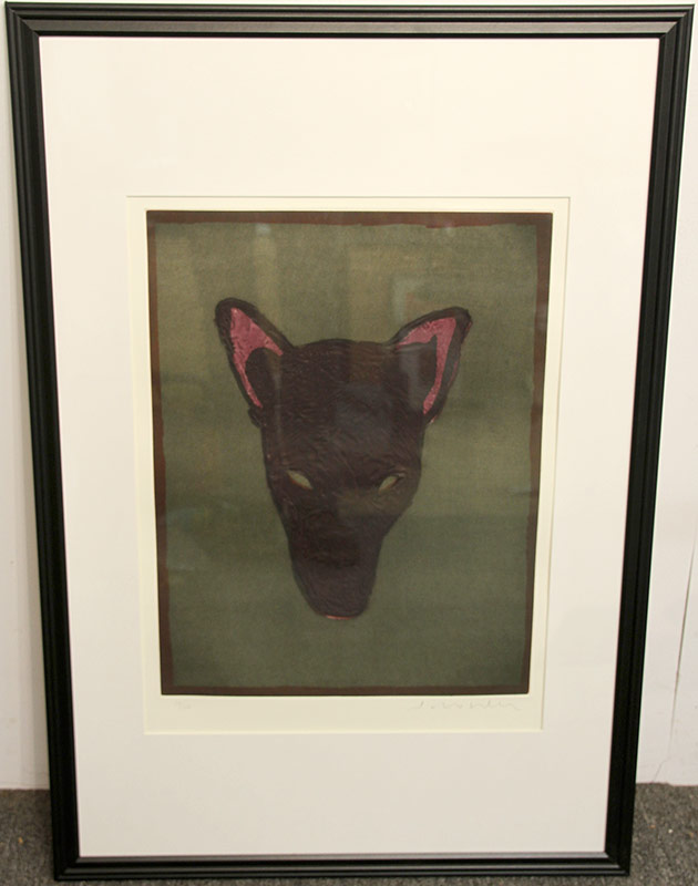 179. Fritz Scholder. Lithograph, Mask of the Werewolf | $369