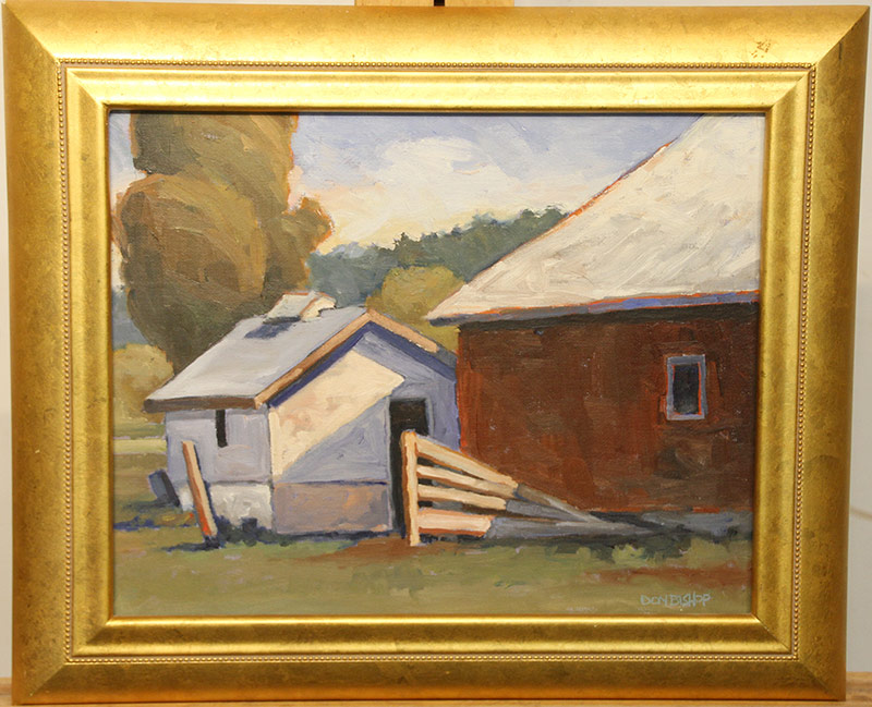 180. Don Bishop. Oil/Panel, Landscape with Barn | $153.75