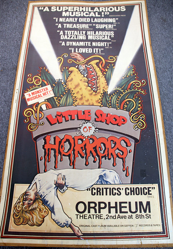 186. Little Shop of Horrors Broadside, Orpheum Theater | $118