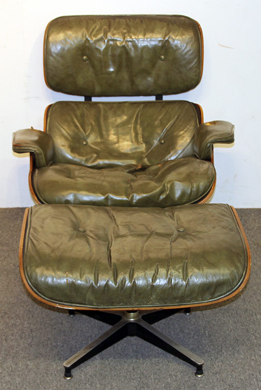 187. Charles & Ray Eames Lounge Chair and Ottoman | $3,690