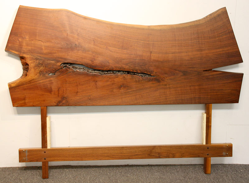 188. Walnut Free-Edge Plank Queen-size Headboard | $1,121