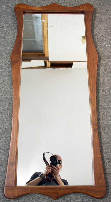 189. Artisan Sculpted Walnut-framed Mirror | $118