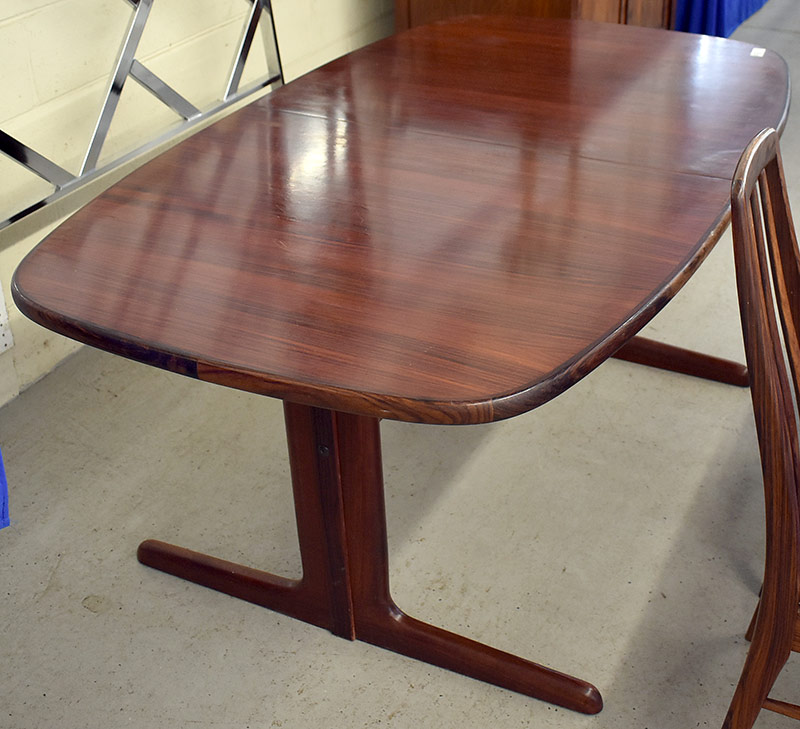 199. Danish Rosewood Extension Dining Table | $584.25