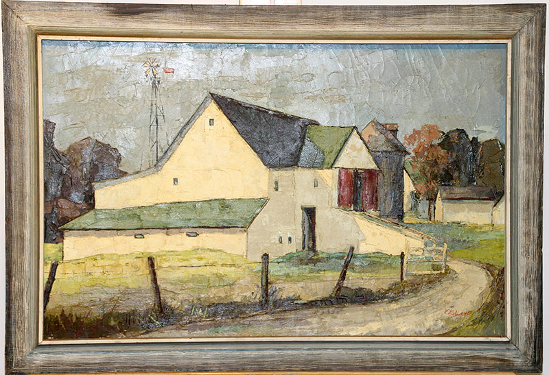 202. Joseph Casalane. Oil/Canvas, Farm, North Side | $461.25