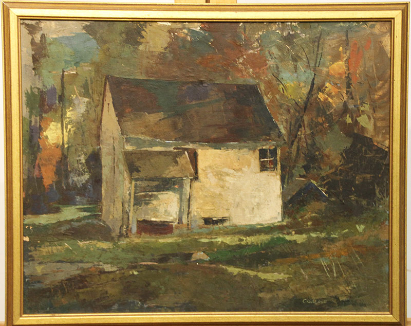203. Joseph Casalane. Oil/Panel, Landscape with Building | $276.75
