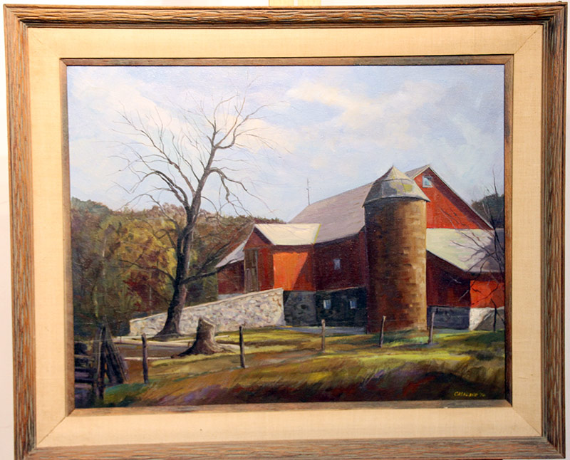 204. Joseph Casalane. Oil/Canvas, Barn | $184.50