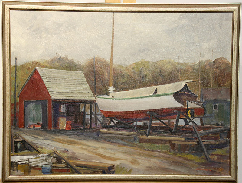 205. Joseph Casalane. Oil/Panel, Boat Yard, Wilmington | $338.25