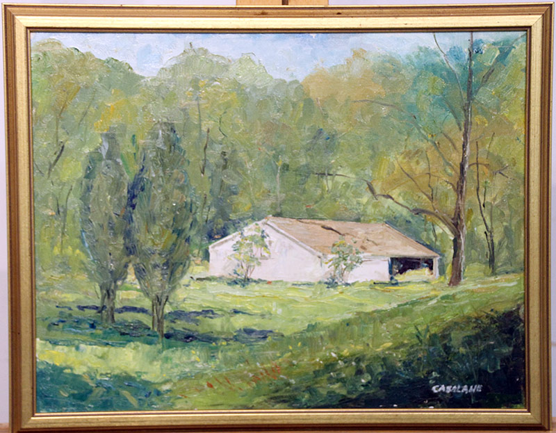206. Joseph Casalane. Oil/Canvas, Landscape w/Building | $153.75