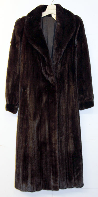 211. Jacques Ferber Black Mink Full-Length Fur Coat | $206.50